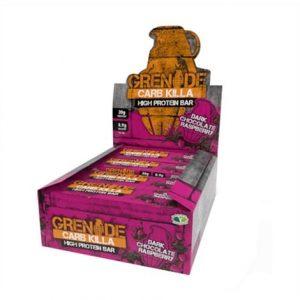 Barre protéinée Carb Killa de 60 g, saveur chocolat noir - framboise de la marque Grenade
