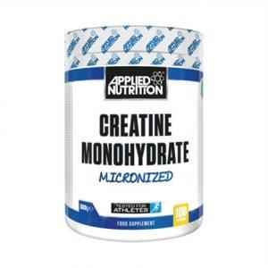 Flacon de 250 g de monohydrate de créatine de la marque Applied Nutrition