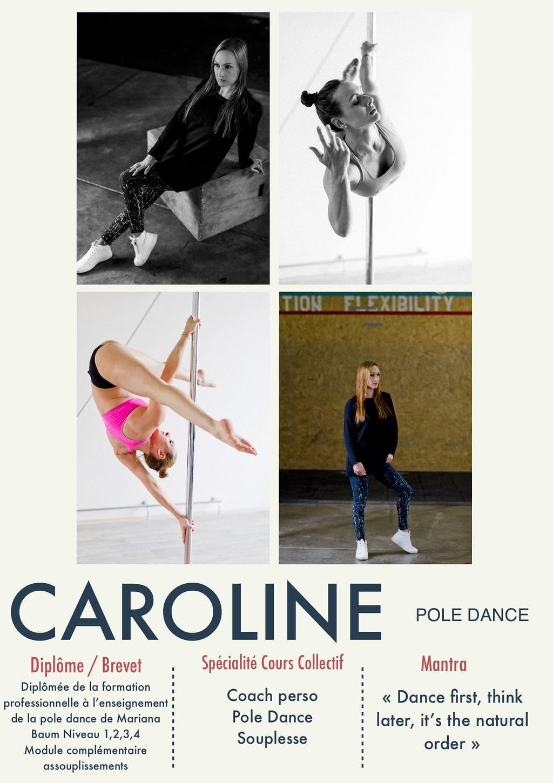 Caroline, coach de la Salle Sports Club
