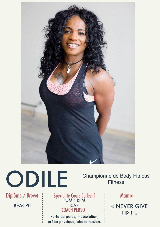 Odile, coach de la Salle Sports Club