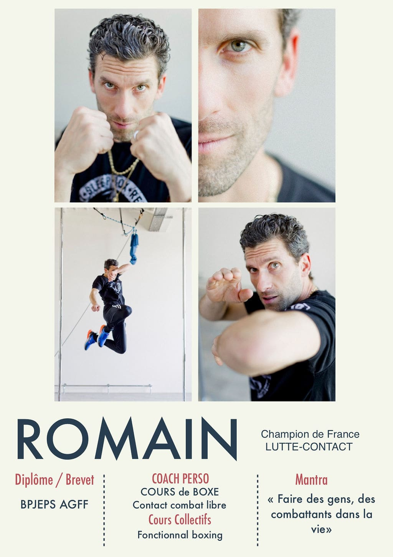 Romain, coach de la Salle Sports Club